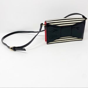 Kate Spade Striped Patent Leather Bow Crossbody
